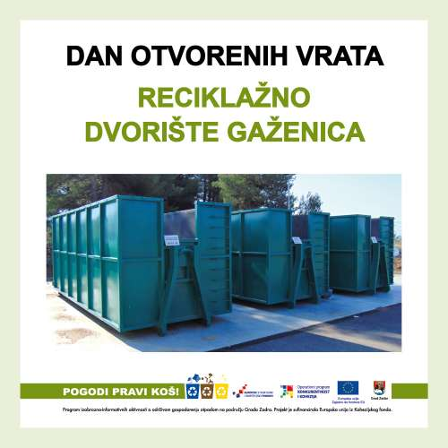 25.11. - Dan otvorenih vrata – Reciklažno dvorište Gaženica