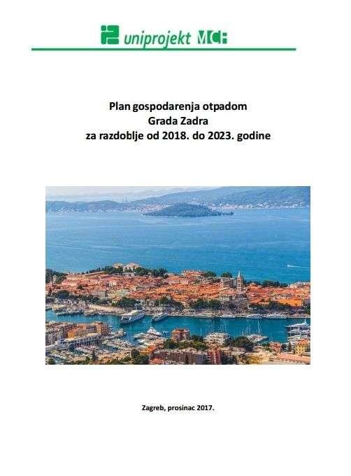 Plan gospodarenja otpadom Grada Zadra za razdoblje od 2018. do 2023. godine